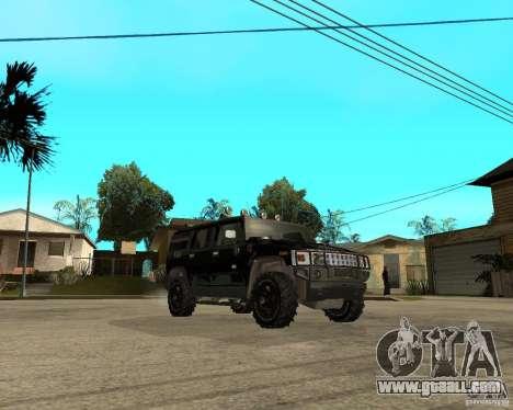 FBI Hummer H2 for GTA San Andreas inner view