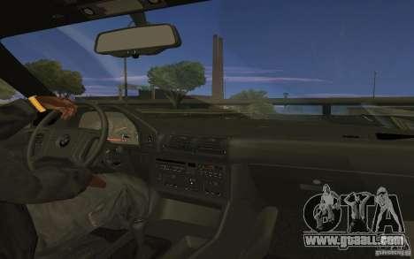 BMW 525 E34 V.3 for GTA San Andreas back left view
