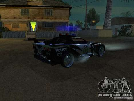 Chevrolet Corvette C6 from NFS MW for GTA San Andreas back left view