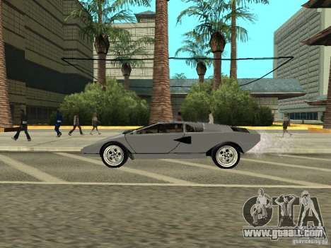 Lamborghini Countach LP400 for GTA San Andreas back left view