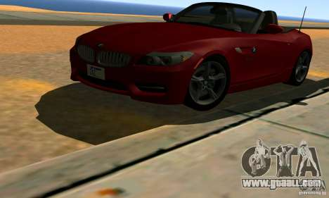 BMW Z4 2010 for GTA San Andreas bottom view