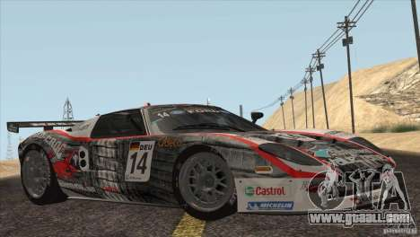Ford GT Matech GT3 Series for GTA San Andreas interior