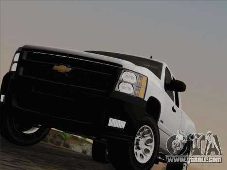 Chevrolet Silverado 2500HD 2013 for GTA San Andreas bottom view
