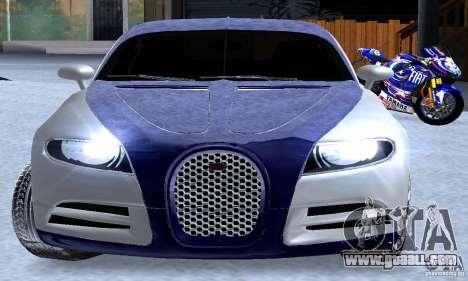 Bugatti Galibier 16c for GTA San Andreas upper view