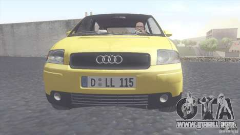 Audi A2 for GTA San Andreas back left view