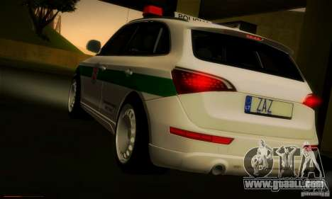 Audi Q5 TDi - Policija for GTA San Andreas back left view