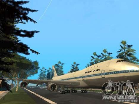Boeing 747-100 Pan American Airways for GTA San Andreas left view