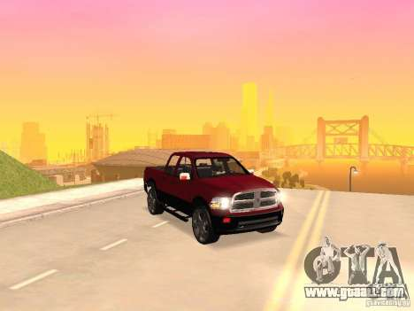 Dodge Ram 2010 for GTA San Andreas