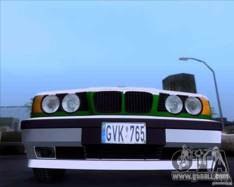 BMW E34 Policija for GTA San Andreas left view