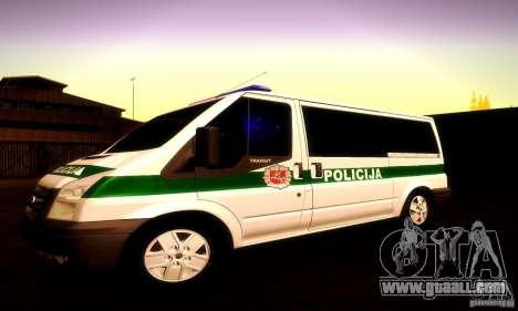 Ford Transit Policija for GTA San Andreas side view