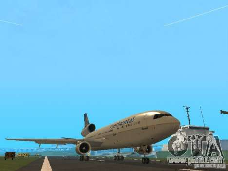 McDonell Douglas DC10 Continental Airlines for GTA San Andreas left view
