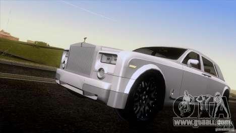 Rolls Royce Phantom Hamann for GTA San Andreas upper view