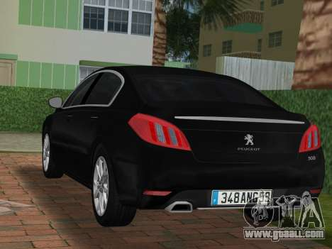 Peugeot 508 e-HDi 2011 for GTA Vice City left view
