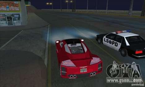 Xenon Lights (Xenon Headlights) for GTA San Andreas second screenshot