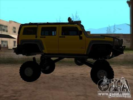 Hummer H3 Trial for GTA San Andreas left view