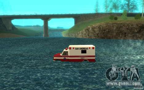 Ambulan boat for GTA San Andreas left view