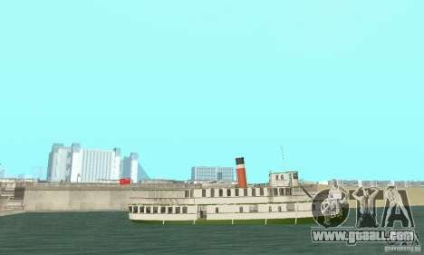 RMS Segwun Ferry for GTA San Andreas right view