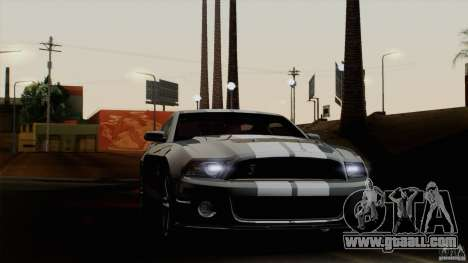 Ford Shelby GT500 2011 for GTA San Andreas back left view
