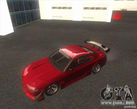 Nissan Silvia S15 with AKATSUKI paintjob for GTA San Andreas back view