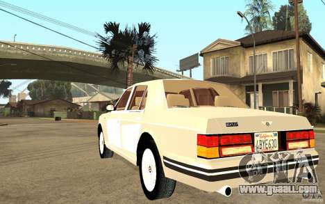 Bentley Turbo RT for GTA San Andreas back left view