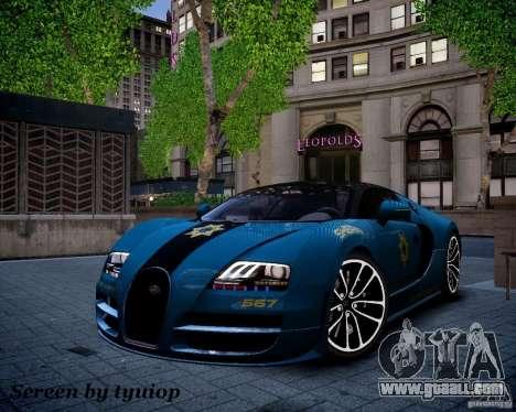 Bugatti Veryon SS COP for GTA 4 side view