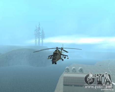 Mi-24p for GTA San Andreas back left view