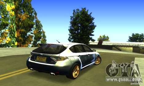 Subaru Impresa WRX STI 2008 for GTA San Andreas back left view
