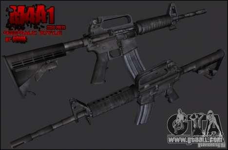 Colt M4A1 Commando Silenced for GTA San Andreas second screenshot