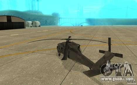 UH-60 Black Hawk for GTA San Andreas right view