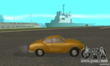 Volkswagen Karmann Ghia for GTA San Andreas back left view