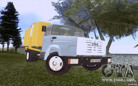 ZIL 4331 garbage truck for GTA San Andreas left view
