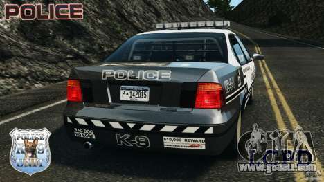 LCPD K9 Unit for GTA 4 back left view
