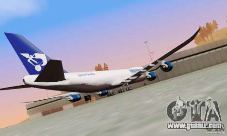 Boeing 747-8F for GTA San Andreas back view