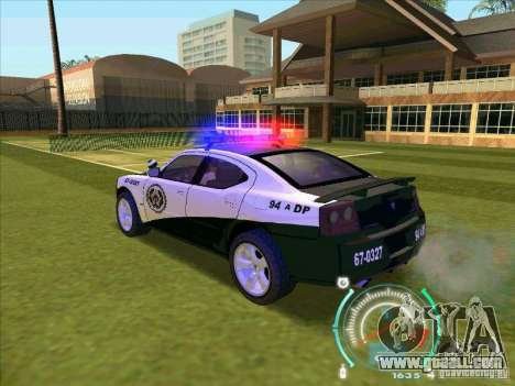 Dodge Charger Policia Civil from Fast Five for GTA San Andreas left view