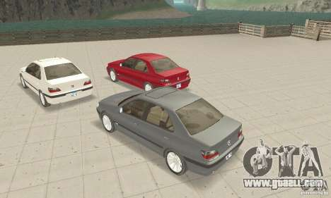 Peugeot 406 stock for GTA San Andreas back view