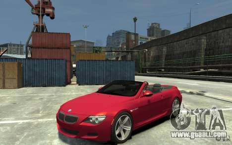 BMW M6 Convertible for GTA 4