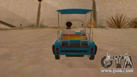 Golf kart for GTA San Andreas right view