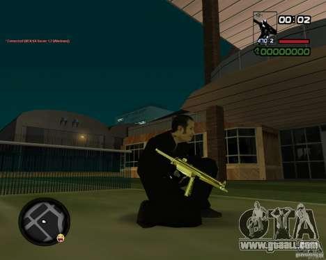 MP5 Gold for GTA San Andreas