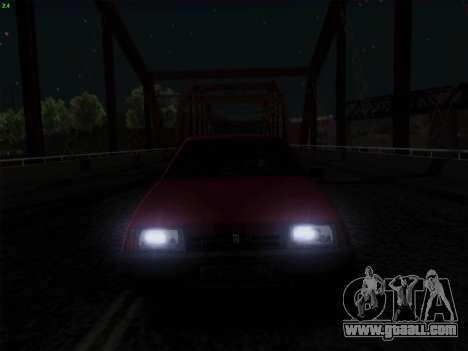 VAZ 21083i for GTA San Andreas bottom view