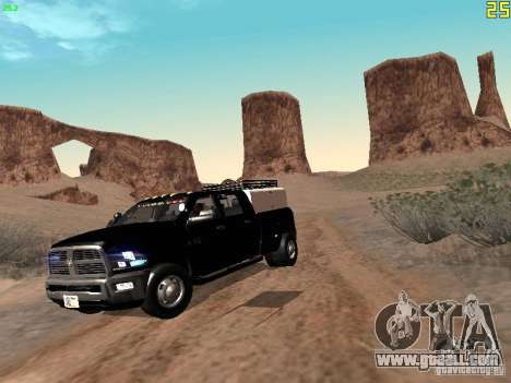 Dodge Ram 3500 Unmarked for GTA San Andreas left view