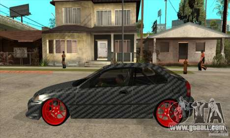 Honda Civic Carbon Latvian Skin for GTA San Andreas back left view