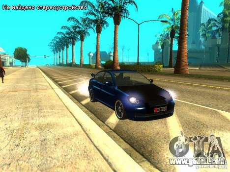 Hyundai Accent Era for GTA San Andreas back left view