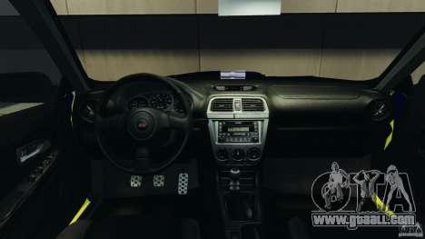 Subaru Impreza British ANPR [ELS] for GTA 4 back view