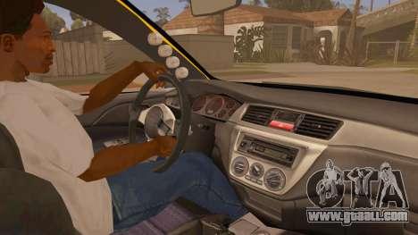Mitsubishi Lancer Evolution IX Wagon MR Drift for GTA San Andreas back view