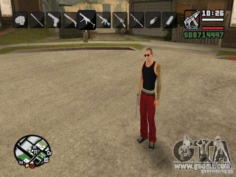 Icons when changing weapons for GTA San Andreas sixth screenshot