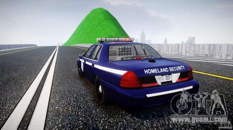 Ford Crown Victoria Homeland Security [ELS] for GTA 4 back left view