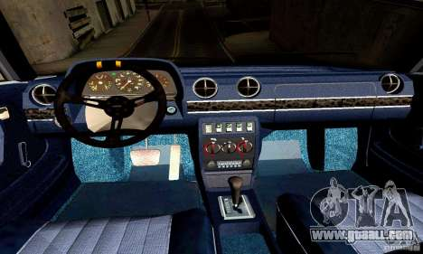 Mercedes Benz W123 for GTA San Andreas inner view