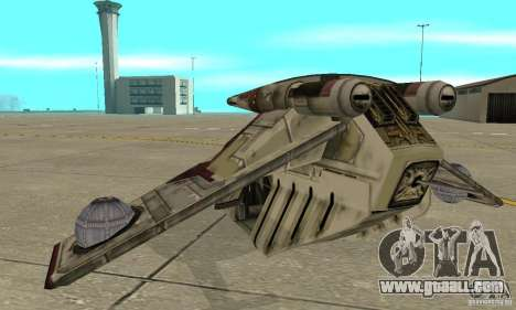 Republic Gunship from Star Wars for GTA San Andreas back left view