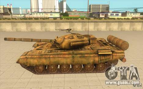 Tank t-72 for GTA San Andreas left view