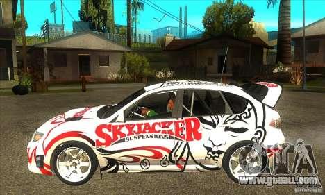 Subaru Impreza WRX STi Skyjacker of DiRT 2 for GTA San Andreas left view